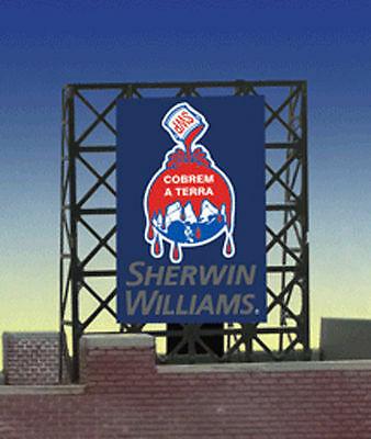 Sherwin Williams Animated Billboard Sign for N Z Scale Miller 338935