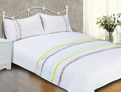 Duvet Cover with Pillow Case Quilt Cover Bedding Set Single Double King Ruffles