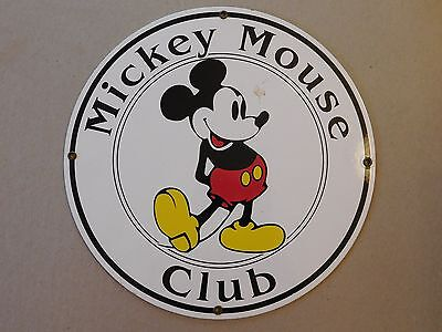 Vintage Disney's Mickey Mouse Club Metal Sign, 12 in.