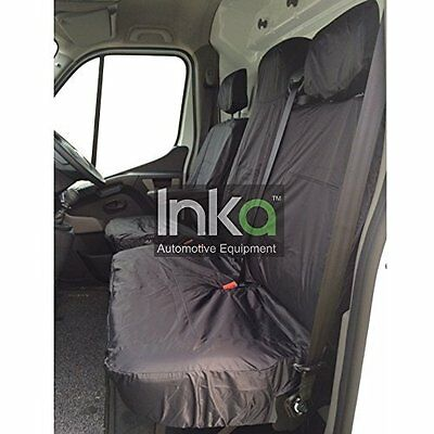 Fiat Ducato RHD Front Seat Inka Tailored Waterproof Covers MY06-16 Grey