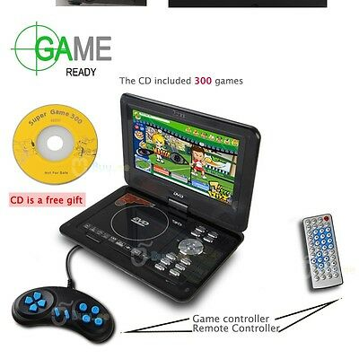 "Buyee 9.8 ""Portable USB SD EVD DVD Jeu TV Player radio FM, gratuit 300 Jeux Disc"