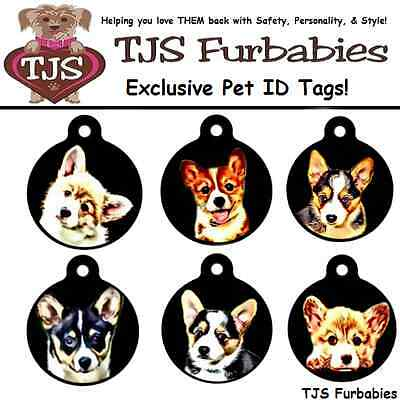 Pembroke Welsh Corgi Puppy-Custom Personalized Dog Breed ID Tag for Dog Collars
