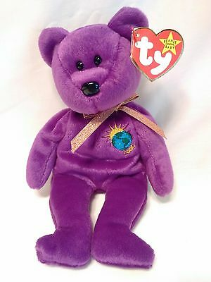 VERY RARE ERRORS TY Beanie Babies MILLENNIUM Millenium Mint Limited Tag MWMT