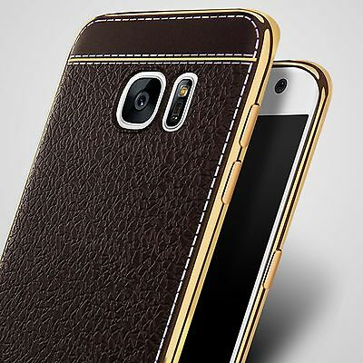 Luxury Ultra-thin PU Leather Soft TPU Back Case Cover For Samsung S7 Edge/Note 5