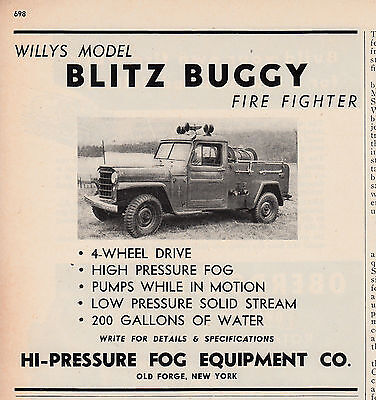 Blitz Buggy On Willys Chassis  1951  Ad       6247