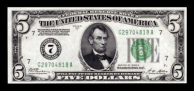 B-D-M United States 5 Dollars Lincoln 1928 A Pick 420b Redeemable in Gold SC UNC