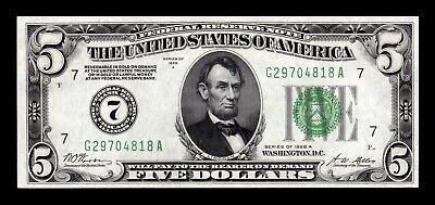 B-D-M United States 5 dollars Lincoln 1928 A Pick 420b Redeemable in gold UNC