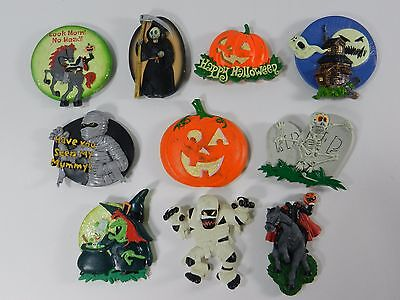 Halloween Kitchen Rubber Fridge Magnet Large Mummy Witch Monster Lot of 10 #2