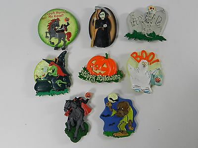 Halloween Kitchen Rubber Fridge Magnet Large Mummy Witch Monster Lot of 8