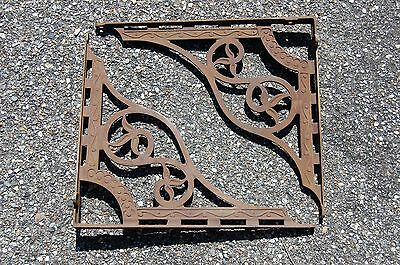Antique Shelf Brackets Victorian Eastlake Decorative Floral Architectural 18x16""