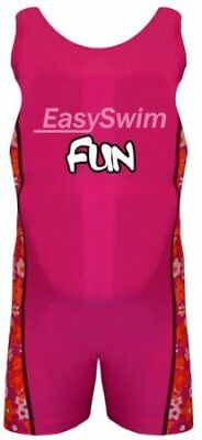 Easy Swim Children Kids Safety Swwiming Suit with Built in Float Pink 3-4 Yrs