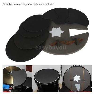 8pcs Durable Drum Set Silencer Practice Pads Mute with Cymbal Mutes N7U1