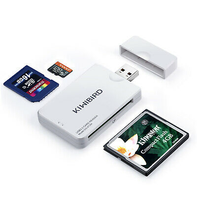 KiWiBiRD USB 3.0 (3.1 Gen 1) CF Compact Flash (UDMA), SDXC, Micro SD Card Reader