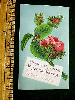 1870s-80s Murray & Lanman's Florida Water, Lovely Rose Victorian Trade Card F10