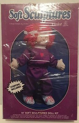 Soft Sculptures A Quick Craft Kit Doll Violet Top Drawer Vintage DIY NIB