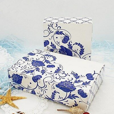 10pcs Colorful Box Wedding Party Candy Cake Gift Boxes Blue And White Porcelain