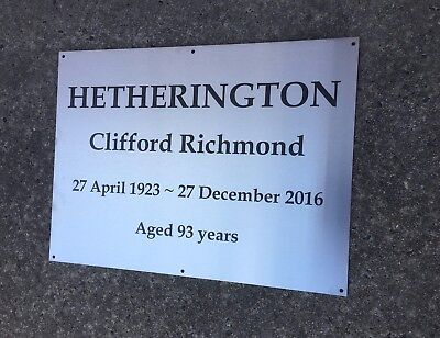 COMMEMORATIVE PLAQUE CUSTOM LASER ENGRAVED STAINLESS STEEL 300 x 450mm