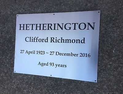 ENGRAVED Custom Commemorative Plaque Stainless Steel 300 x 450mm