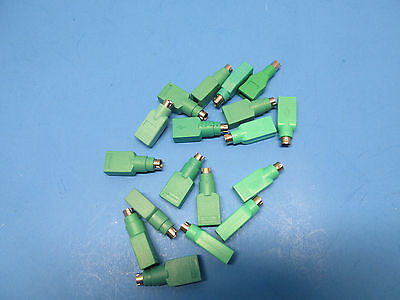 PS2 PS/2 male to USB female mouse passive adapter  LOT of 18 Microsoft mixed