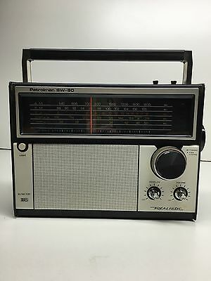 Vintage Realistic Patrolman SW-60 Radio Portable Shortwave 6 Bands Read Notes