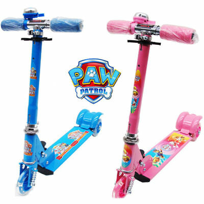 Paw Patrol Foldable Design Scooter Kid Child Push Kick 3 Wheel Car Ride On Toy