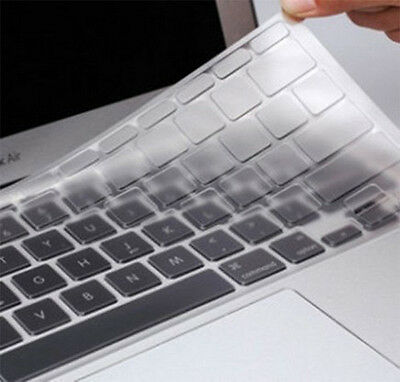 """2 x New Clear Keyboard Cover Protector for Apple MacBook Pro / Air 13"""" 15"""" 17"""""""