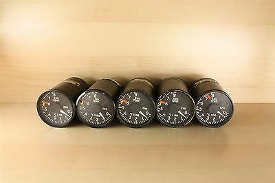 Lot of (5) Boeing Exhaust Gas Temp Indicators - Lewis 152BL705