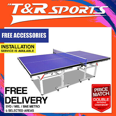 19Mm Pro Size Double Happiness Ping Pong Table Tennis Table + Free Gift Pack