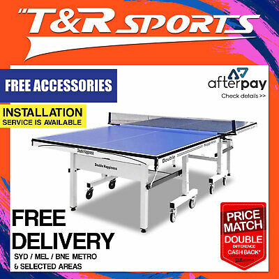 25Mm Pro Size Double Happiness Ping Pong Table Tennis Table + Free Gift Pack