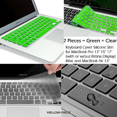 """Colorful Soft Silicon Keyboard Skin Case Cover For Apple Macbook Pro Retina 13"""""""