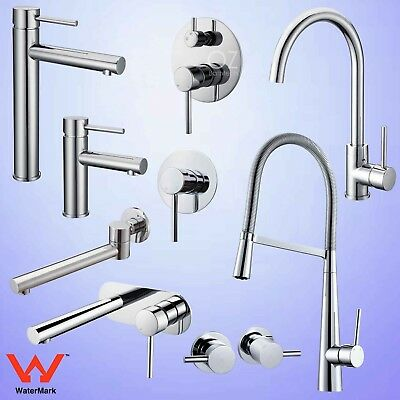 Pull Out Shower Basin Mixer Bath Vanity Wall Spout Tall Sink Faucet Tap Chrome
