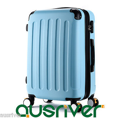 "10Colours 20-26"" Portable Luggage Trolley Suitcase Travel Extra Compartment Lock"