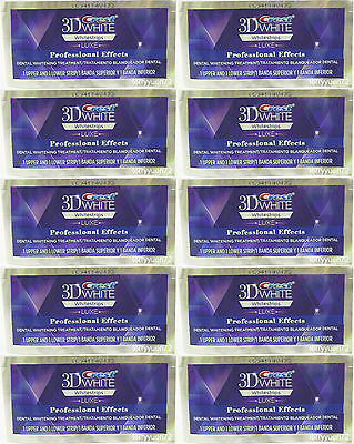 Crest 3D White Luxe Whitestrips Professional Whitening Effects 10 pouch 20strips