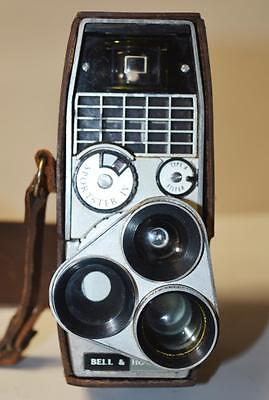 Bell & Howell Sportster IV Clockwork Cine Camera In Original Case [PL2296]