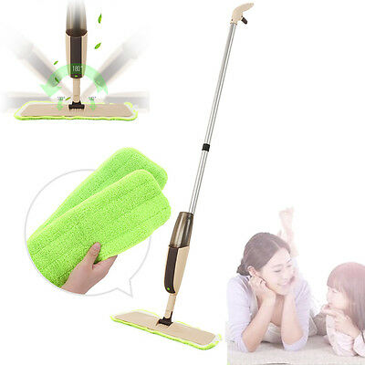 Household 180 Rotation Head Water Spray Mop Home Flat  Floor Cleaner Dust Mop AU