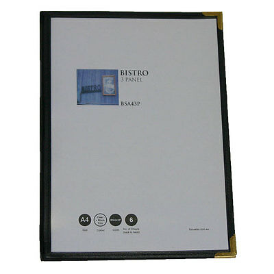 A4 Cafe Menu Folders With 3 Pages