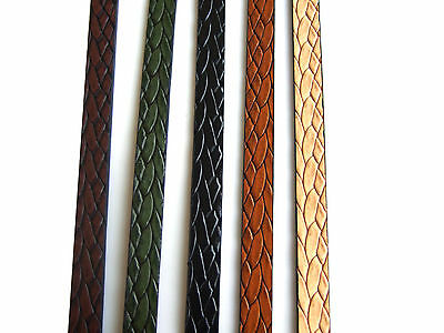 1 Meter Best Quality 10mm Flat Snake Skin Leather Cord, Python Leather Cord