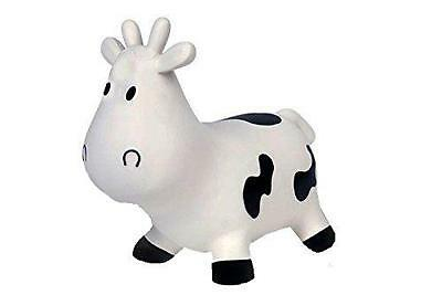 BuitenSpeel White Jumping Cow Inflatable Made Of Soft Plastic Includes Hand Pump