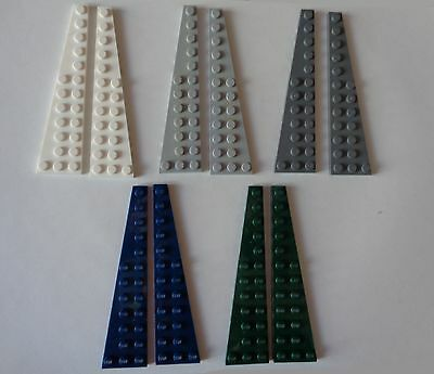 Lot x2 Lego 47398 blanc white Plaque Aile Wing Plate 3x12-4209005