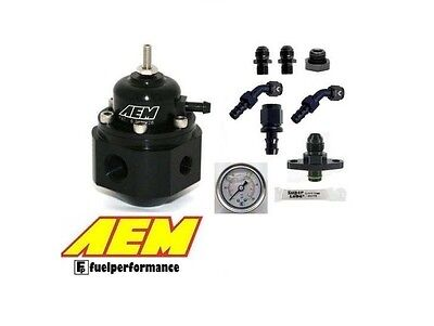 AEM Universal Adjustable Fuel Pressure Regulator KIT  #25-302BK - Mitsubishi EVO