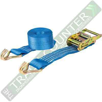 Ratchet Straps x 8 Heavy Duty Size 3m x 50mm 2000kg Warrior BDV1572CP  BDSL