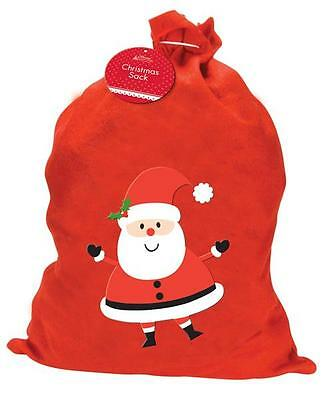 1 X Large Father Christmas Santa Sack Red Stocking Gift Presents Xmas