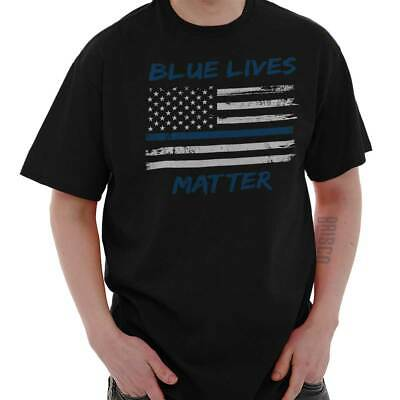 Blue Lives Matter Shirt | Police Support Officer Law Guns USA T Shirt
