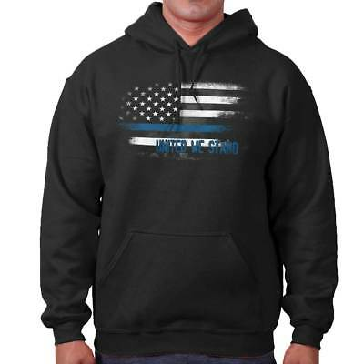 Blue Lives Matter USA Gift America Thin Line Police Flag Gym Hoodie