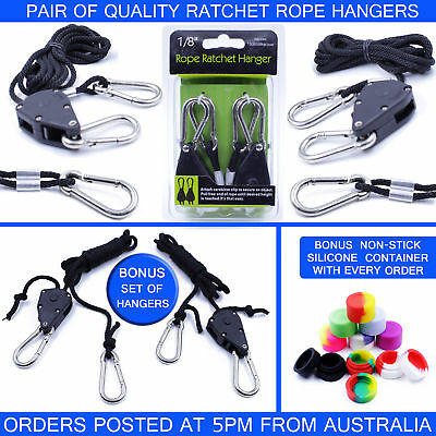 Ratchet Rope Light Hangers - Heavy Duty -  Hydroponics Carbon Filter Yoyo
