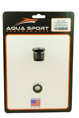SEA-DOO 800cc 951cc 1995-1999 ALUMINUM STEERING CABLE NUT W/ OEM RUBBER WASHER