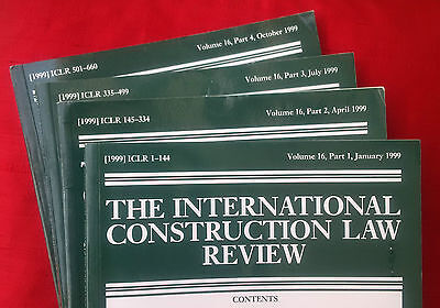 International Construction Law Review, vol. 16 (1999) complete volume