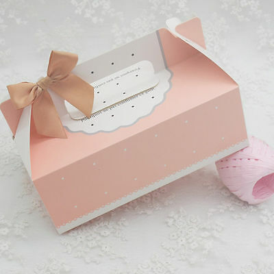 10pcs Colorful Box Wedding Party Candy Cake Gift Boxes Black And White Polka Dot