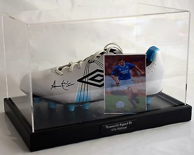 Ally McCoist Signed Autograph Football Boot Display Case Glasgow Rangers AFTAL