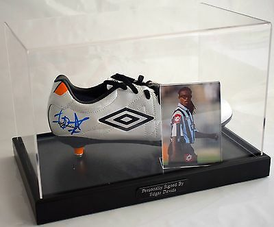 Edgar Davids Signed Autograph Football Boot Display Case Juventus AFTAL & COA